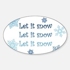 Winter Oval Decal