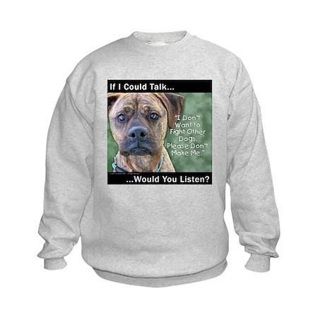 Stop Dog Fighting Kids Sweatshirt