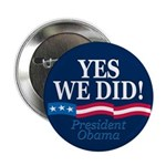 Yes We Did Obama Victory Button