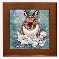 Bunjie Bunny Framed Tile