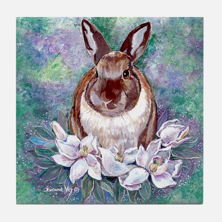 Bunjie Bunny Tile Coaster