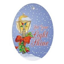 Let Your Light Shine OES Ornament (Oval)