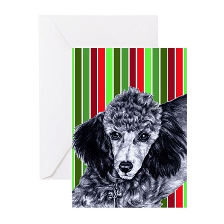 Pencil Poodle Christmas Greeting Cards (Pk of 20)