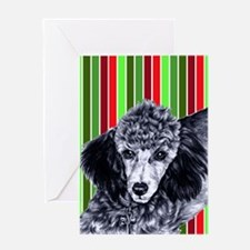 Pencil Poodle Christmas Greeting Card