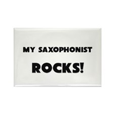 MY Saxophonist ROCKS! Rectangle Magnet