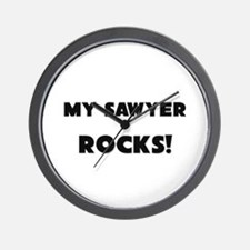 MY Sawyer ROCKS! Wall Clock