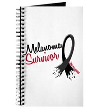 Melanoma Survivor Frayed Ribbon Journal