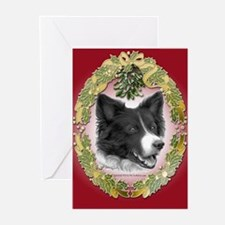 Border Collie Christmas Greeting Cards (Pk of 20)