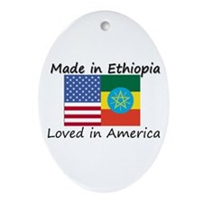 Made in Ethiopia Oval Ornament