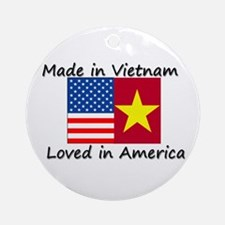 Made in Vietnam Ornament (Round)