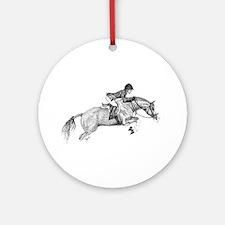 Hunter Pony Art Ornament (Round)