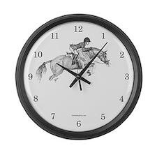 Hunter Pony Art Large Wall Clock