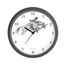 Hunter Pony Art Wall Clock