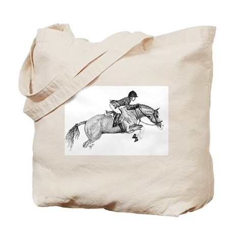 Hunter Pony Art Tote Bag