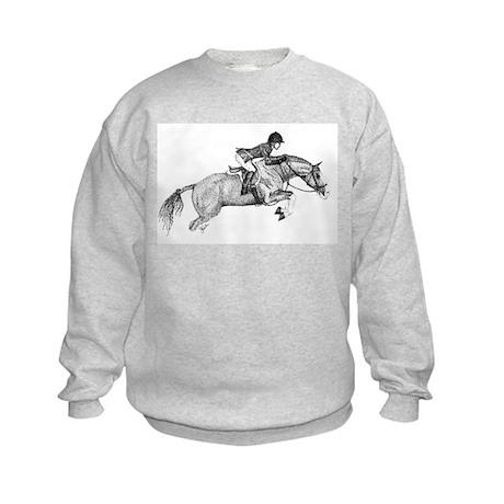 Hunter Pony Art Kids Sweatshirt