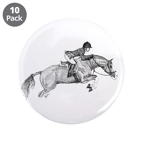 "Hunter Pony Art 3.5"" Button (10 pack)"