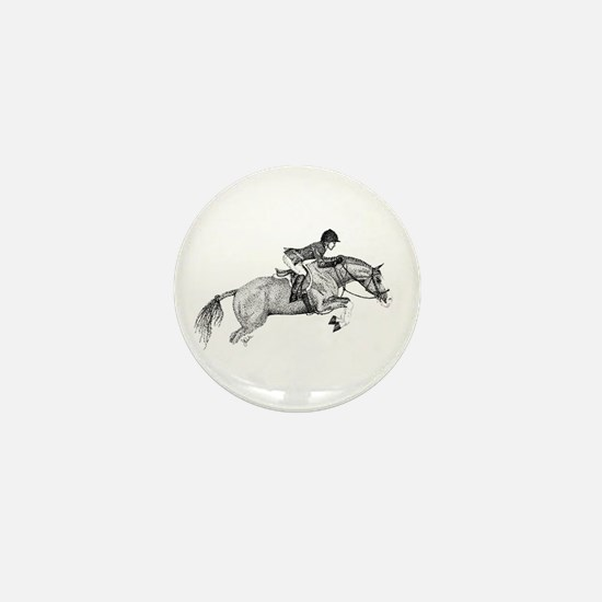 Hunter Pony Art Mini Button