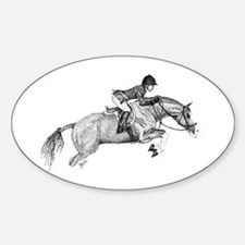 Hunter Pony Art Oval Decal