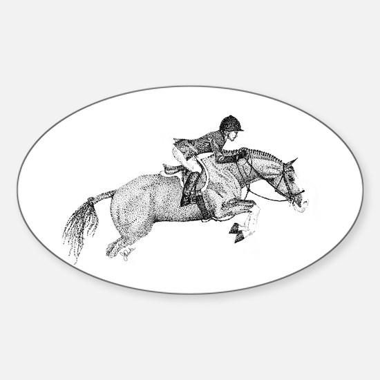 Hunter Pony Art Oval Decal