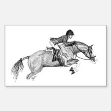 Hunter Pony Art Rectangle Decal