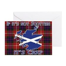 Not Scottish It's Crap #4 Greeting Card