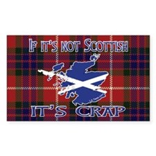 Not Scottish It's Crap #4 Rectangle Decal
