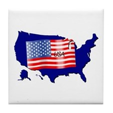 The Stars and Stripes! Tile Coaster