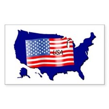 The Stars and Stripes! Rectangle Decal