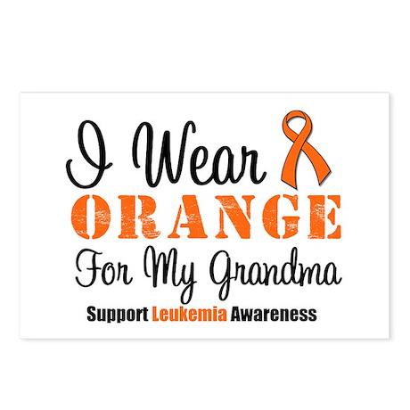 I Wear Orange For My Grandma Postcards (Package of