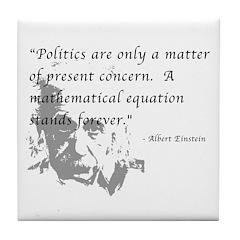 Math vs. Politics Tile Coaster