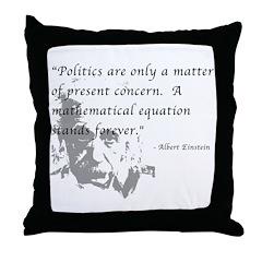 Math vs. Politics Throw Pillow