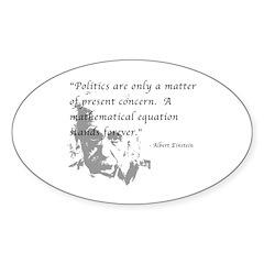 Math vs. Politics Oval Sticker