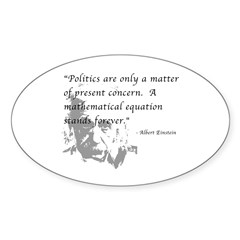 Math vs. Politics Oval Sticker (10 pk)