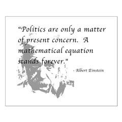 Math vs. Politics Small Poster