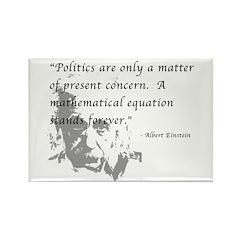 Math vs. Politics Rectangle Magnet (10 pack)