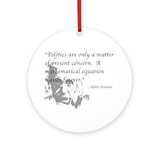 Math vs. Politics Ornament (Round)