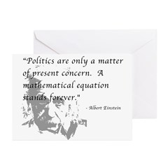 Math vs. Politics Greeting Cards (Pk of 10)