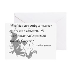 Math vs. Politics Greeting Card