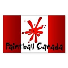 Paintball Canada Rectangle Decal