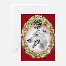 Greyhound Mistletoe Greeting Cards (Pk of 20)