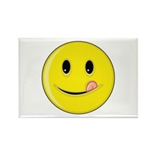 Smiley Face - Licking Lips Rectangle Magnet
