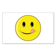 Smiley Face - Licking Lips Rectangle Decal