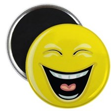 """Smiley Face - """"LOL"""" Laughing Magnet"""