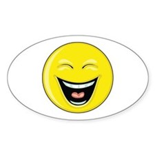"""Smiley Face - """"LOL"""" Laughing Oval Decal"""