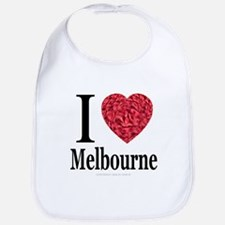 I Love Melbourne Bib