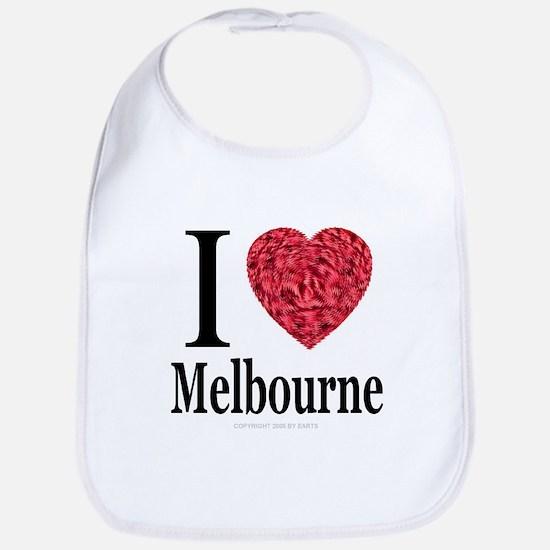 I Love Melbourne Bib