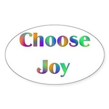 Choose Joy Design #752 Oval Decal