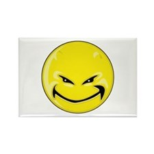Smiley Face - Yellow Devil Rectangle Magnet