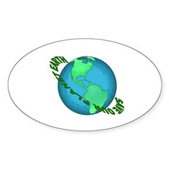 Save Our Planet Earth Oval Sticker (10 pk)