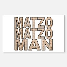Matzo Matzo Man Rectangle Decal